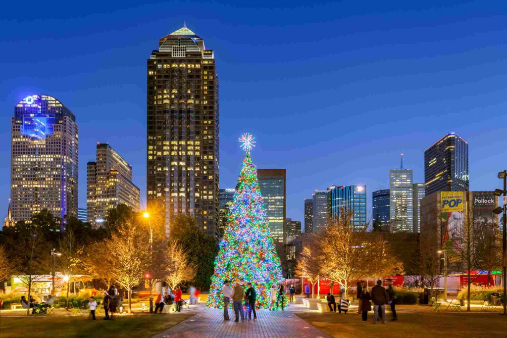 Dallas, TX at Christmas